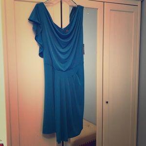 Vince Camuto Asymmetrical Sleeves Dress